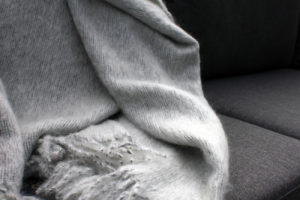 Foxford Mohair Throw - Silver