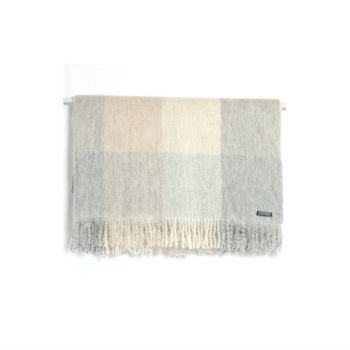 Foxford Mohair Wool – Taupe/Grey Check
