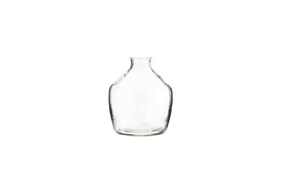 Recycled Clear Glass Vase