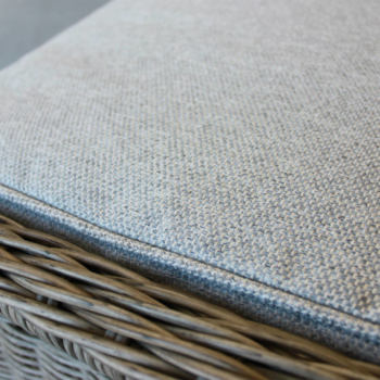 Close up of Olifen fabric cushion from the reclining outdoor chair