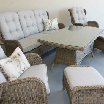 wicker outdoor furniture set - reclining outdoor furniture set - Coffee Suite from Mountain Weave NZ