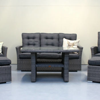 Wicker coffee suite - Reclining outdoor chairs from Mountain Weave