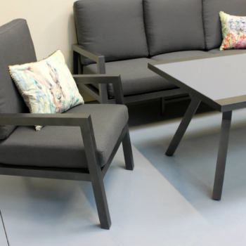 Premium aluminium outdoor coffee table and chairs - New Zealand Outdoor Furniture